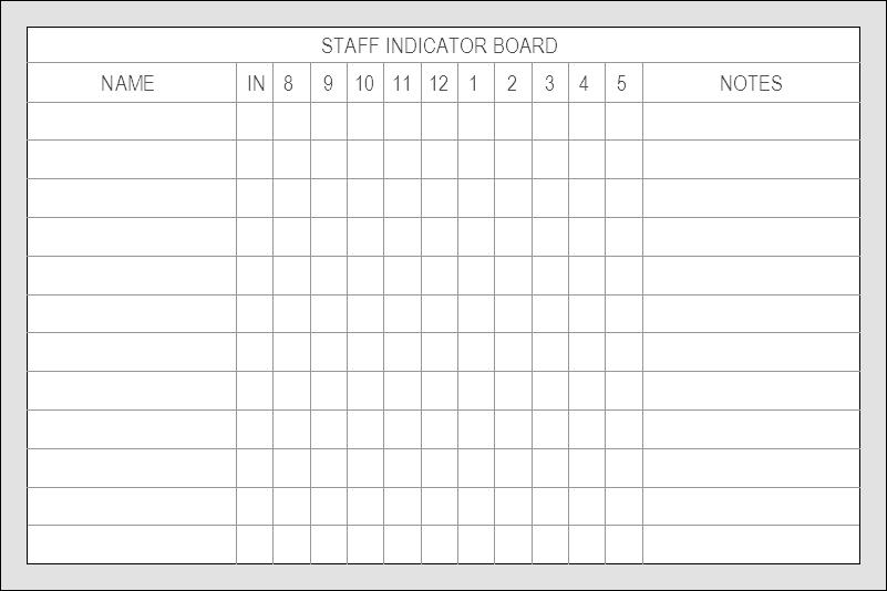 4x6 Staff Indicator
