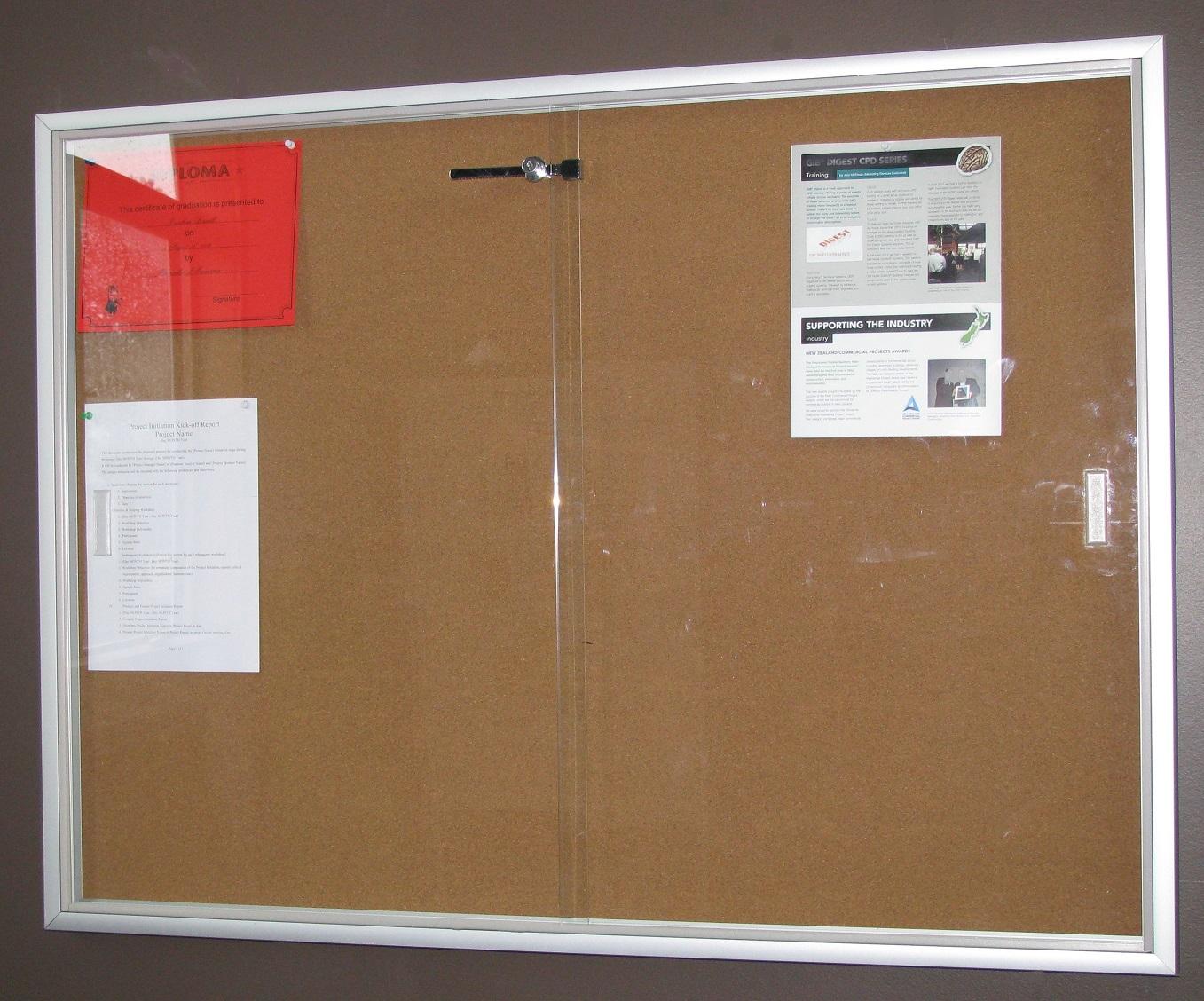 9x12 glass noticeboard dp