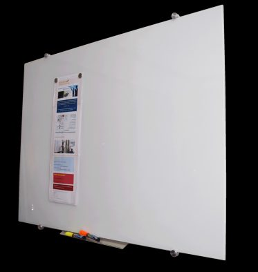 Super clear glass whiteboard