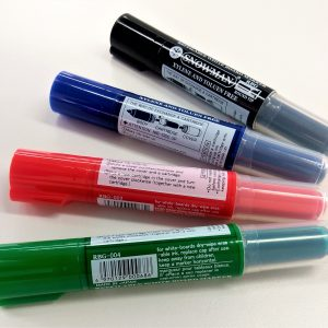 Refillable whiteboard marker fine tip