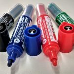 Refillable whiteboard marker fine tip